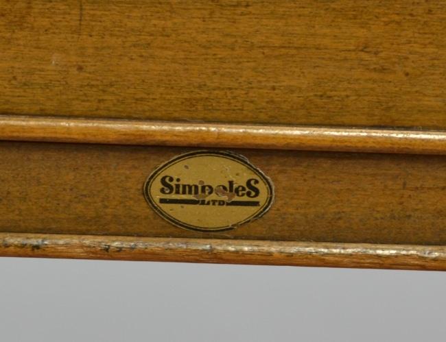 Large Walnut Art Deco Antique Desk – by Simpoles of Manchester.