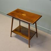 Quality Edwardian Mahogany Occasional Antique Table with Sunburst Inlay.