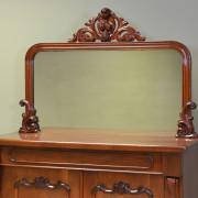 Splendid Figured Mahogany Victorian Antique Mirrored Back Antique Chiffonier / Cupboard