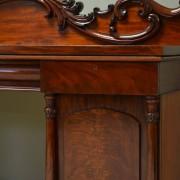Magnificent Large Figured Mahogany Antique William IV Pedestal Sideboard