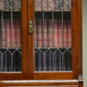 Unusual Tall / Slim Edwardian Walnut Antique Cabinet / Drawers