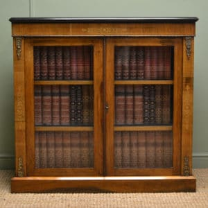 Beautifully Figured Victorian Walnut Antique Pier Cabinet