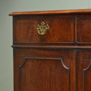 Period Georgian Mahogany Antique Cupboard / Chest