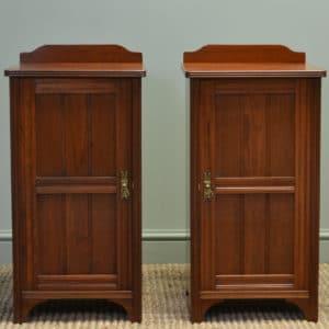 Impressive Victorian Walnut Antique Bedside Cabinets by Morison & Co Edinburgh