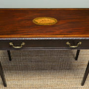 Fine Quality Edwardian Inlaid Walnut Antique Side Table