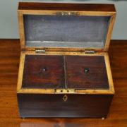 Fine Regency Mahogany Antique Tea Caddy