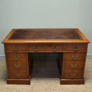 Quality Arts and Crafts Victorian Antique Walnut Pedestal Desk – Hunt & Co
