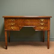 Rare Large Pollard Oak Victorian Antique Architects Desk