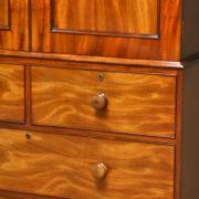 Spectacular Regency Rich Golden Mahogany Antique Linen Press