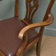 Set of Six Edwardian Walnut Antique Dining Chairs