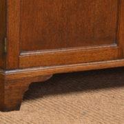 Large Period Oak Antique Georgian Floor Standing Corner Cabinet