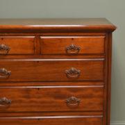 Edwardian Satinwood Antique Chest Of Drawers