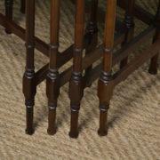 Fine Edwardian Walnut Antique Nest of Four Tables