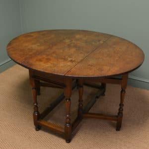 Seventeenth Century Country Oak Antique Gate Leg Table