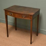 Elegant Edwardian Serpentine Mahogany Antique Side Table