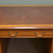 Large Edwardian Walnut Antique Office Desk
