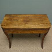 Stunning Regency Rosewood Antique Side / Tea Table