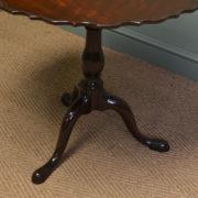 Striking Georgian Mahogany Antique Bird Cage Top, Super / Lamp Table