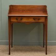Victorian, Mellow Mahogany, Small Antique Writing Table / Wash Stand