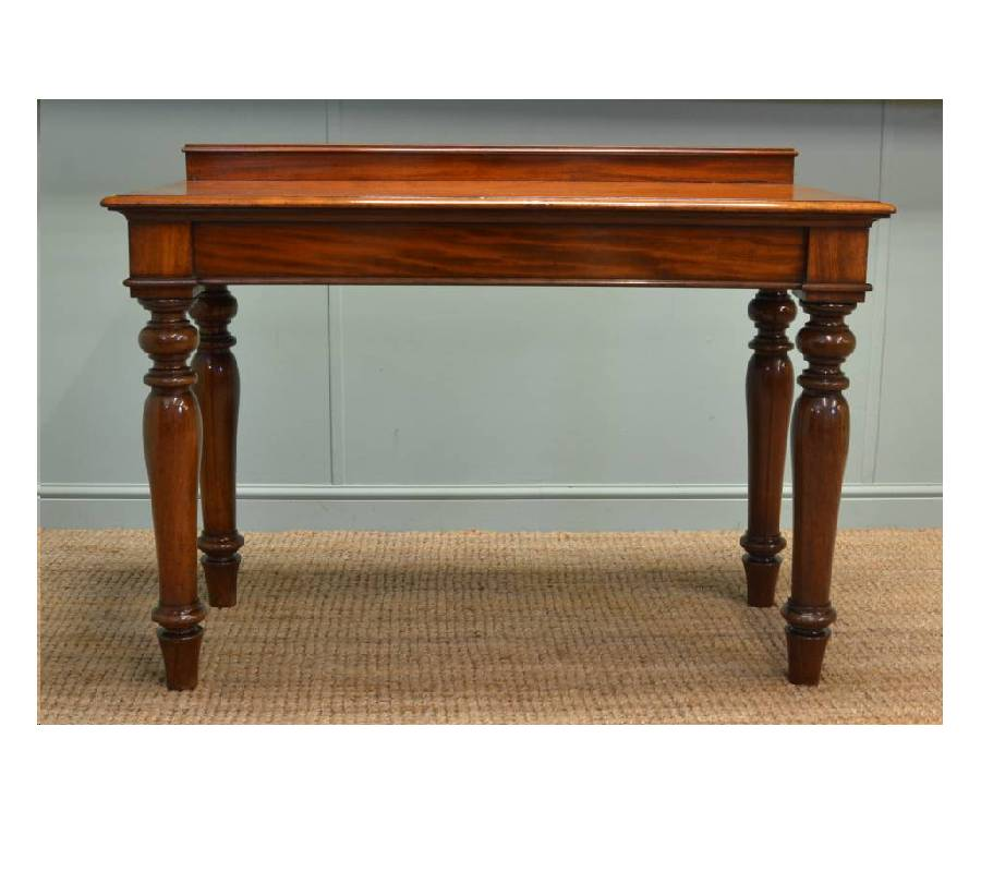 Antique victorian mahogany console table serving table for Sofa table victorian