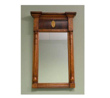 William IV Rosewood & Oak Antique Mirror.