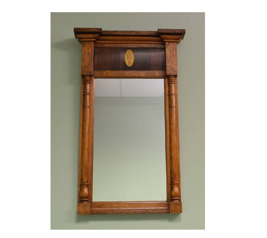 William IV Rosewood & Oak Antique Mirror.