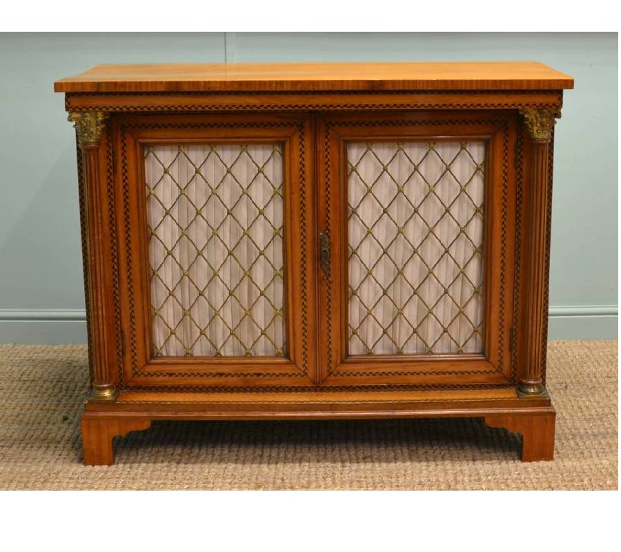 Magnificent Quality Late 19th Century Satinwood Antique Side Cabinet.