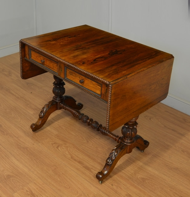 Quality Antique Regency Rosewood Sofa Table.
