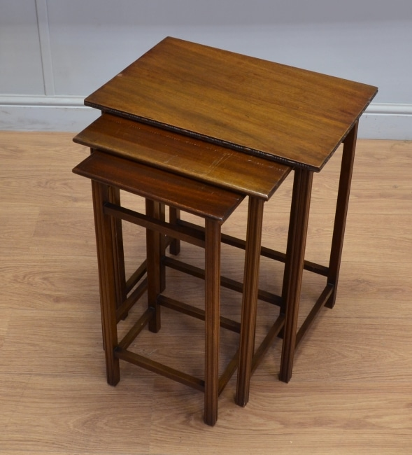 Waring and Gillows Antique Nest of Mahogany Tables.