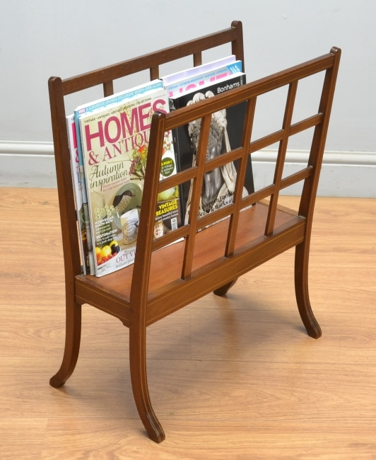 Edwardian Mahogany Antique Paper / Magazine Rack.