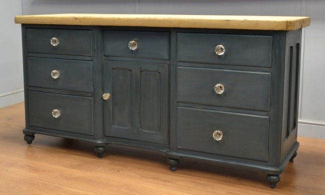 Large Painted Victorian Antique Country Dresser.