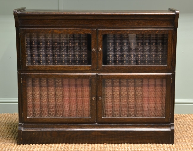 Small 'Minty' Oak Antique Barristers Bookcase.