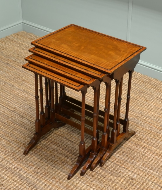 An Edwardian Inlaid Mahogany Quartetto of Antique Tables.