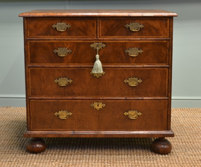 Queen Anne Antique Furniture - Walnut Chest