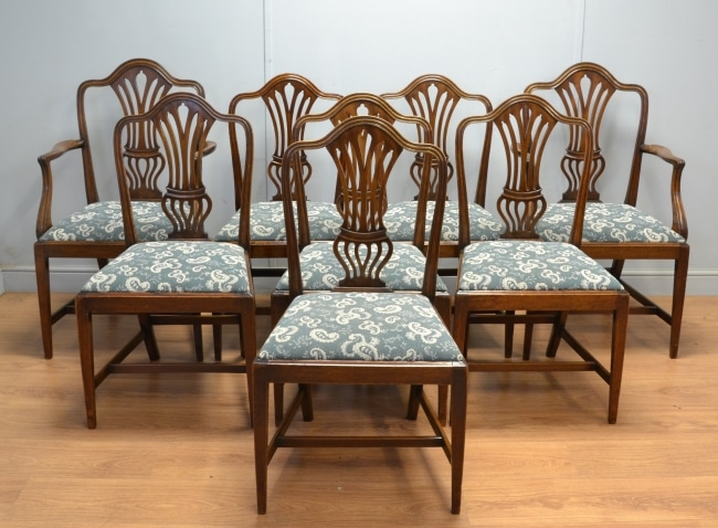 Set of Eight Victorian Chippendale Dining Chairs
