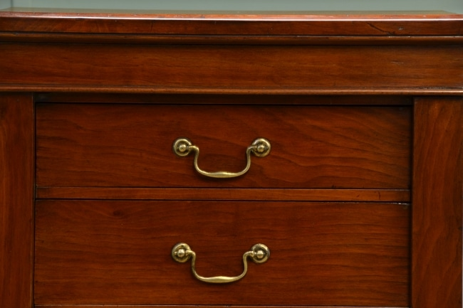 Victorian Walnut Antique Wellington Chest.