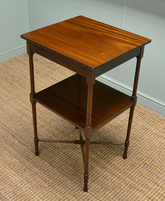 Antique Edwardian Mahogany Occasional Table/What-Not by John Taylor & Son.
