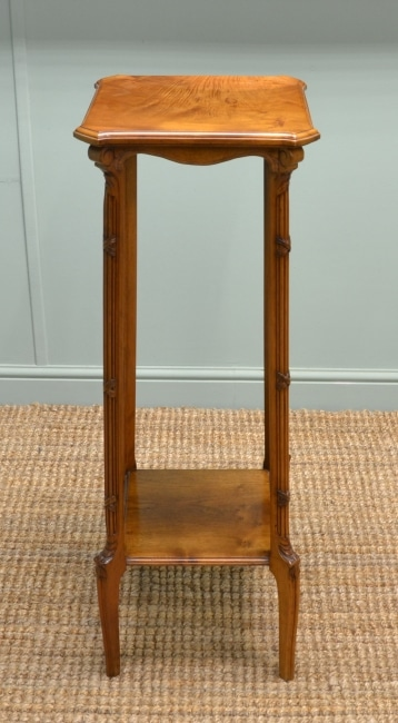 Edwardian Walnut Decorative Antique Plant Stand by John Taylor & Son.