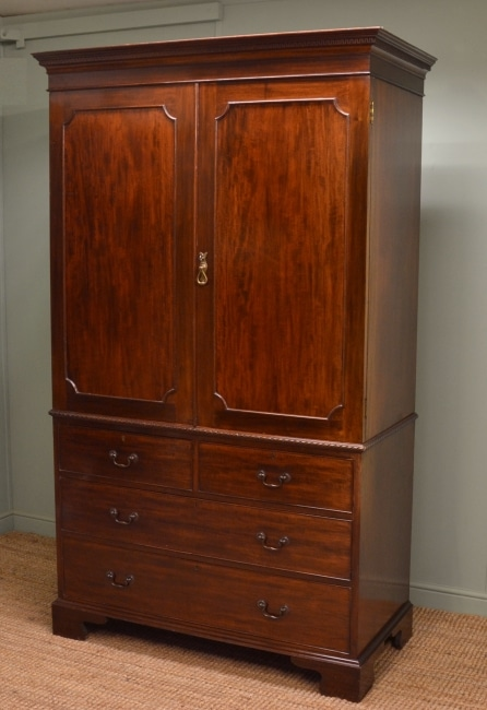 Maple & Co Antique Linen Press
