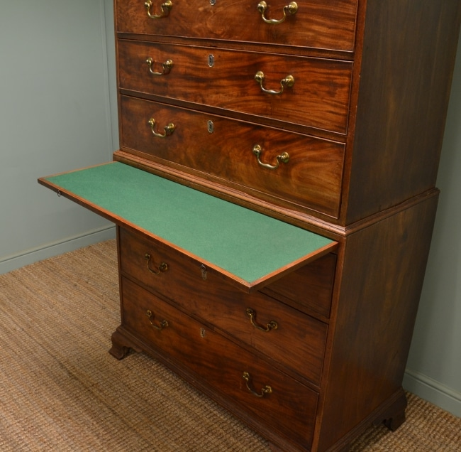 Quality Antique Georgian Mahogany Chest on Chest / Tallboy.