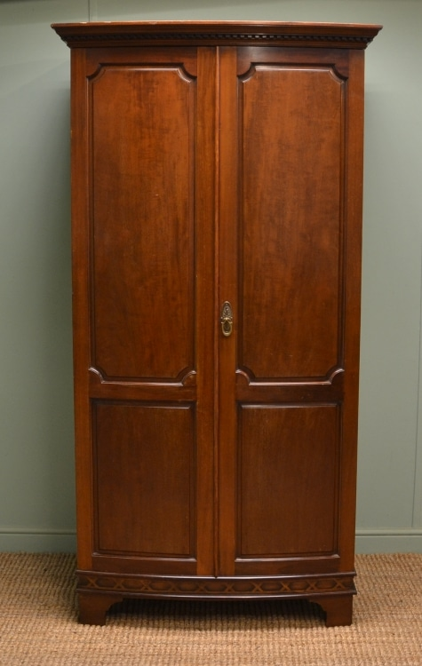 Maple & Co Antique Wardrobe Bow Fronted