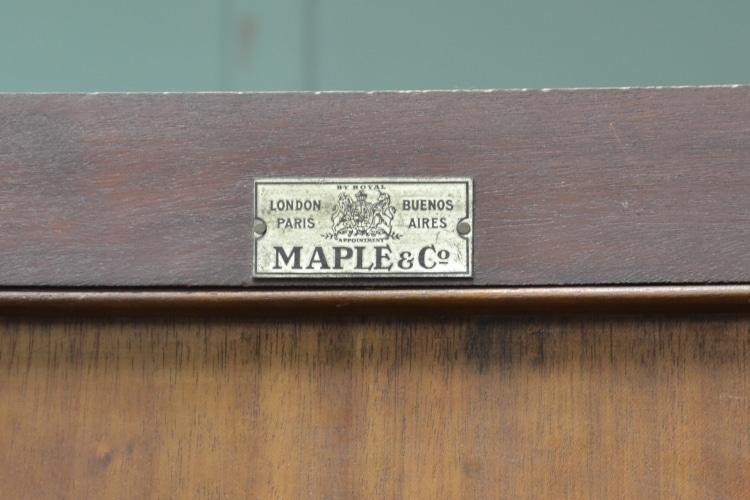 Maple & Co Antique Furniture Badge
