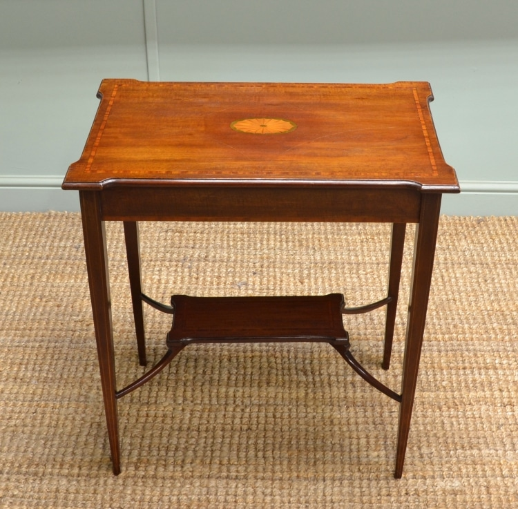 Quality Antique Edwardian Inlaid Mahogany Occasional Table.
