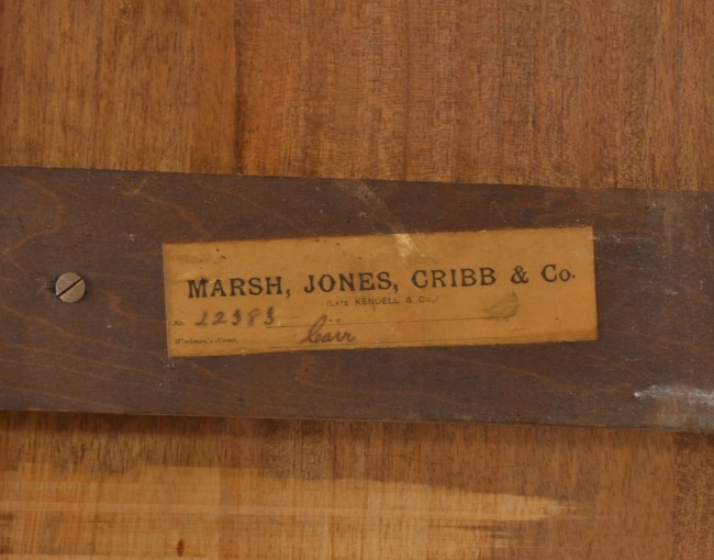 Merveilleux Marsh, Jones And Cribb U0026 Co Mahogany Writing Table