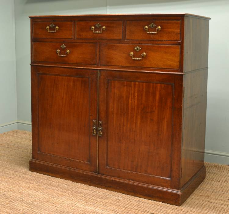 Quality Georgian Mahogany Antique Press with Drawers