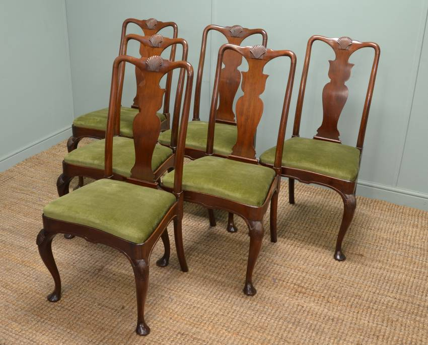 Superb quality set of 6 Victorian Mahogany Dining Chairs stamped by the cabinet makers 'Morrison & Co Edinburgh'