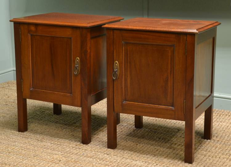 Pair of Edwardian Mahogany Bedside Cabinets Pair of Edwardian Mahogany Bedside  Cabinets - Antique Bedside Cabinets - Antique Bedside Cabinet Antique Furniture