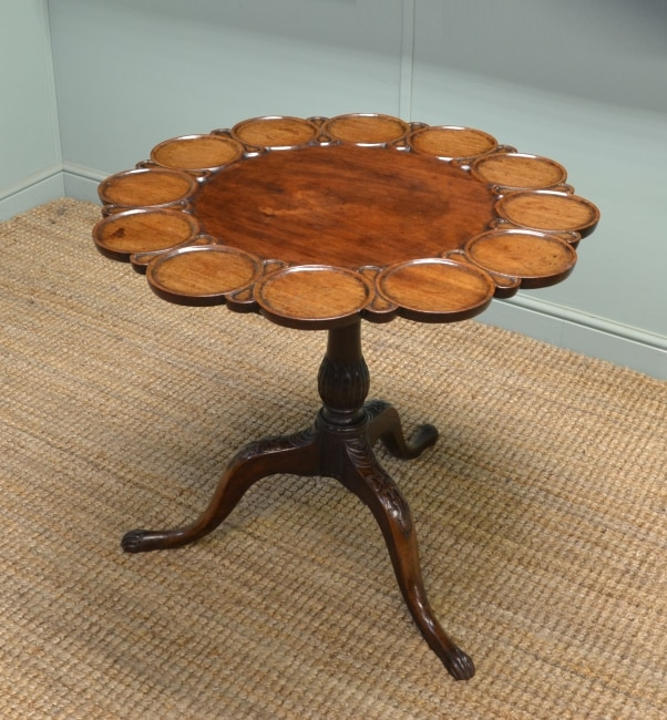 Rare Georgian mahogany birdcage antique supper table – antique tripod table