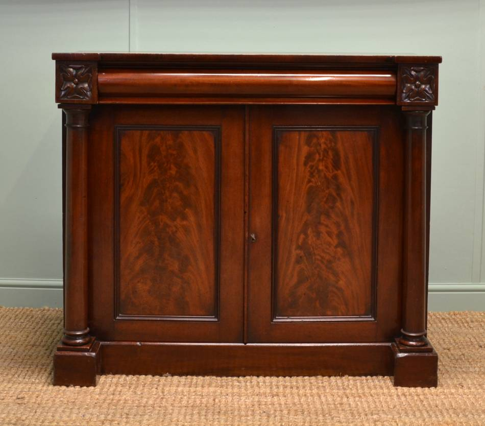 William IV Mahogany Antique Chiffonier / Server Cupboard.