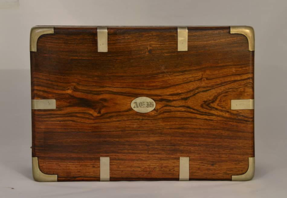 Unusual Pair Of Antique Victorian Solid Rosewood Boxes.